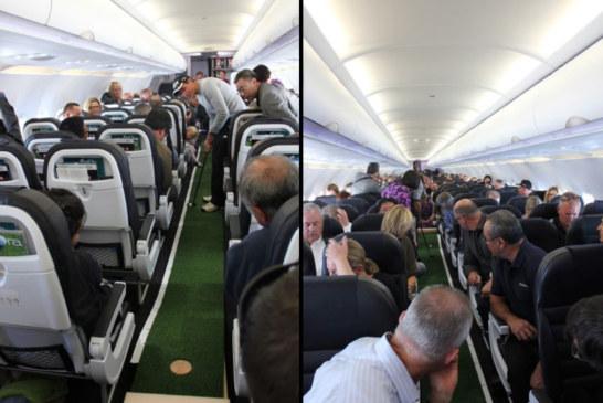 Kije, piłka i dziura w samolocie. Jak skończy się ten lot?