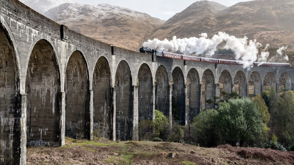 wiadukt Glenfinnan - czyli gdzie leży Hogwart