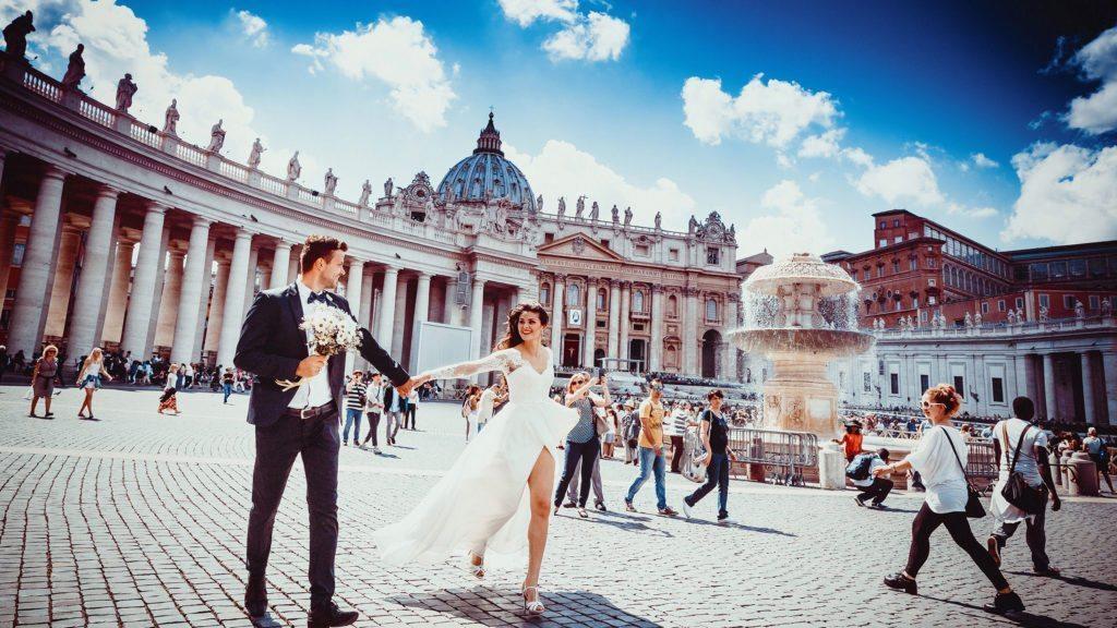 ślub za granicą - rzym