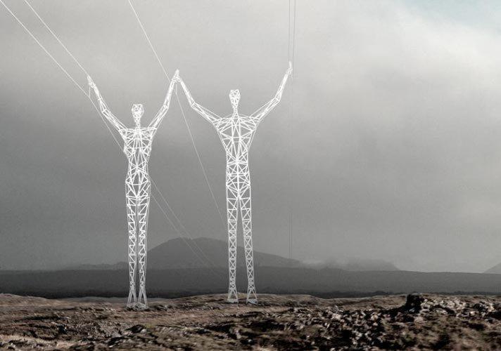 Maszty energetyczne Islandia
