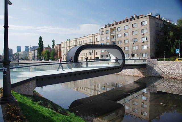 Most z pętlą w Sarajewie