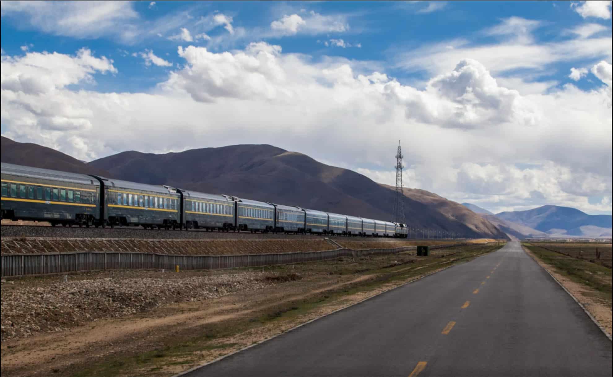 Tybet - pociąg z Lhasy