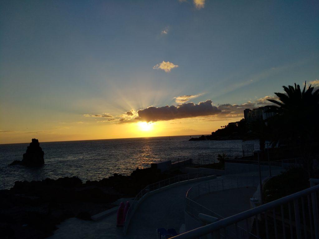 Madera zachód słońca
